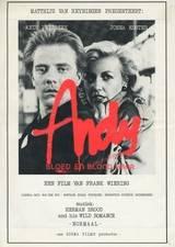 Filmposter Andy, bloed en blond haar